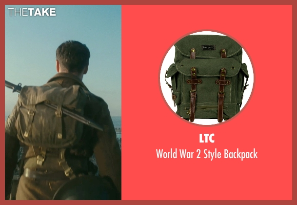 LTC green backpack from Atonement seen with James McAvoy (Robbie Turner)