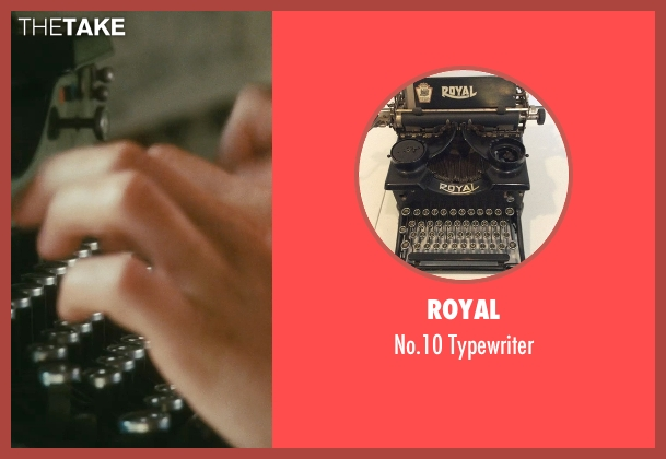 Royal typewriter from Atonement seen with James McAvoy (Robbie Turner)