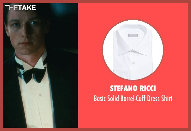 Stefano Ricci white shirt from Atonement seen with James McAvoy (Robbie Turner)