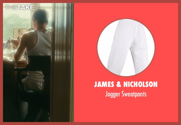 James & Nicholson white sweatpants from Atonement seen with James McAvoy (Robbie Turner)