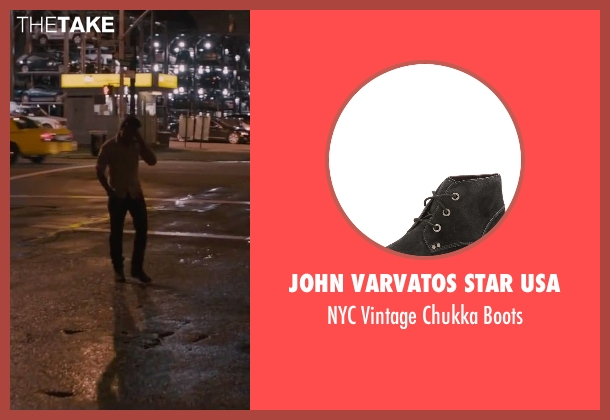 John Varvatos Star USA black boots from The Disappearance of Eleanor Rigby seen with James McAvoy (Conor Ludlow)