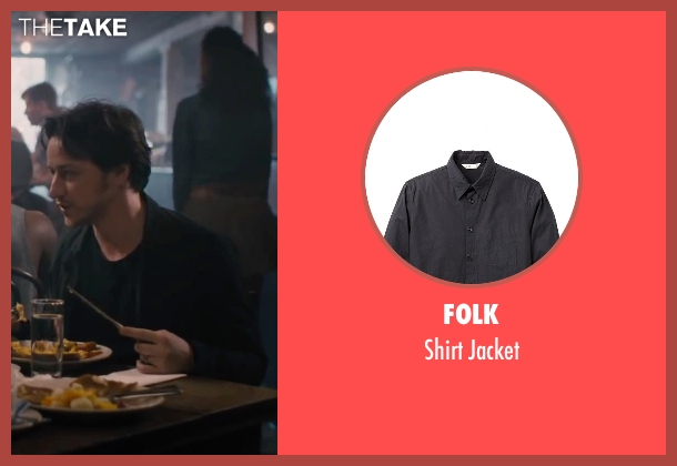 Folk black jacket from The Disappearance of Eleanor Rigby seen with James McAvoy (Conor Ludlow)