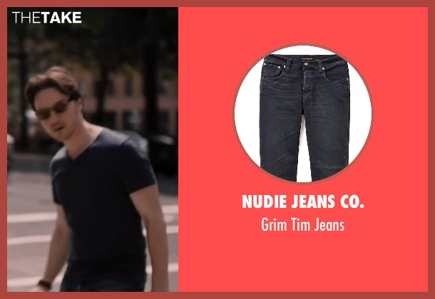 Nudie Jeans Co. black jeans from The Disappearance of Eleanor Rigby seen with James McAvoy (Conor Ludlow)