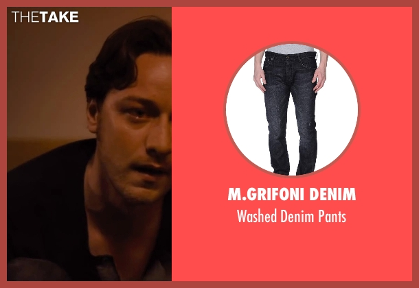 M.Grifoni Denim black pants from The Disappearance of Eleanor Rigby seen with James McAvoy (Conor Ludlow)