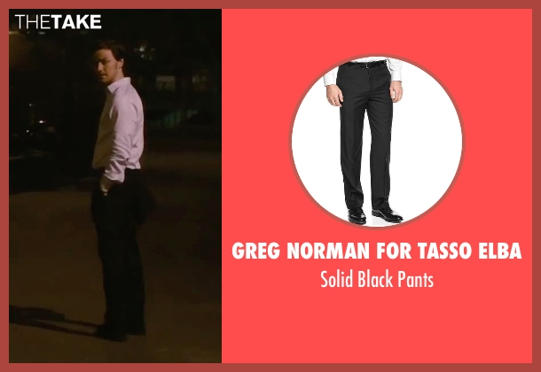 Greg Norman for Tasso Elba black pants from The Disappearance of Eleanor Rigby seen with James McAvoy (Conor Ludlow)