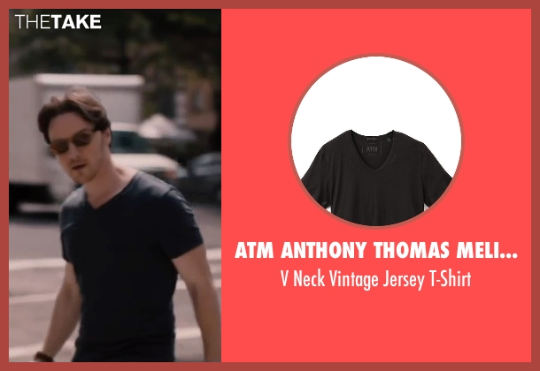 ATM Anthony Thomas Melillo black t-shirt from The Disappearance of Eleanor Rigby seen with James McAvoy (Conor Ludlow)