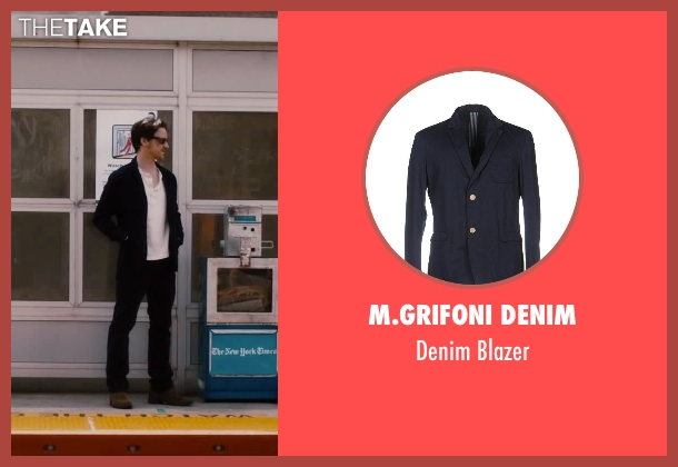 M.Grifoni Denim blue blazer from The Disappearance of Eleanor Rigby seen with James McAvoy (Conor Ludlow)