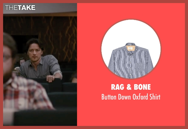 Rag & Bone blue shirt from The Disappearance of Eleanor Rigby seen with James McAvoy (Conor Ludlow)