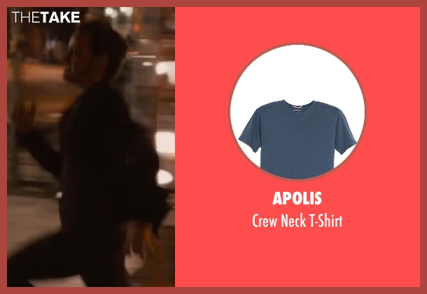 Apolis blue t-shirt from The Disappearance of Eleanor Rigby seen with James McAvoy (Conor Ludlow)