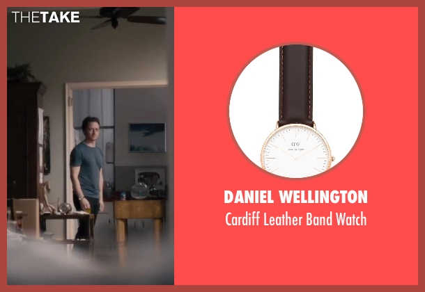 Daniel Wellington brown watch from The Disappearance of Eleanor Rigby seen with James McAvoy (Conor Ludlow)