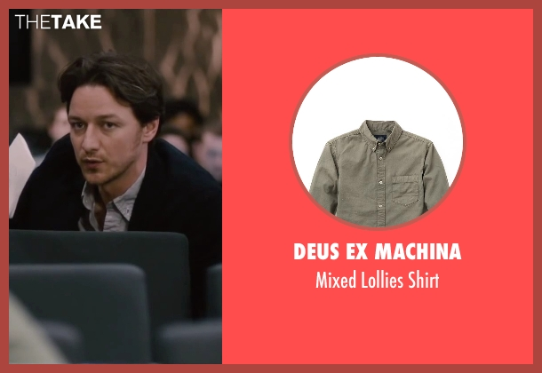 Deus Ex Machina gray shirt from The Disappearance of Eleanor Rigby seen with James McAvoy (Conor Ludlow)