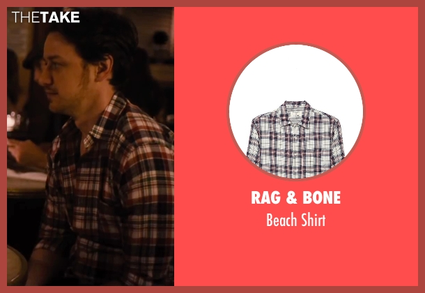 Rag & Bone red shirt from The Disappearance of Eleanor Rigby seen with James McAvoy (Conor Ludlow)