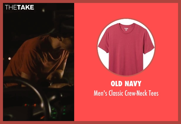 Old Navy red tees from The Disappearance of Eleanor Rigby seen with James McAvoy (Conor Ludlow)