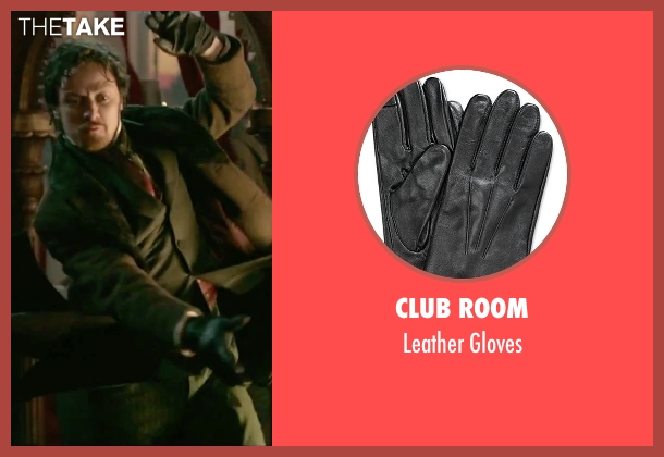 Club Room black gloves from Victor Frankenstein seen with James McAvoy (Victor Von Frankenstein)