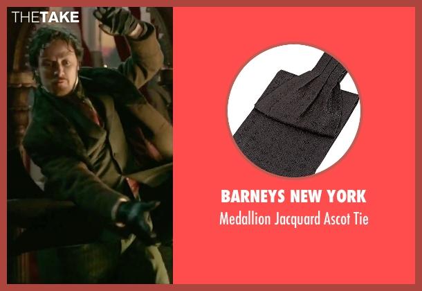 Barneys New York black tie from Victor Frankenstein seen with James McAvoy (Victor Von Frankenstein)