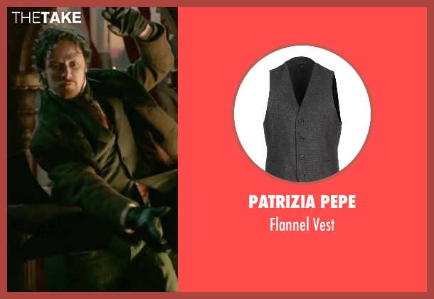 Patrizia Pepe gray vest from Victor Frankenstein seen with James McAvoy (Victor Von Frankenstein)