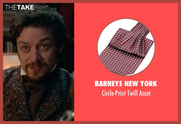 Barneys New York red ascot from Victor Frankenstein seen with James McAvoy (Victor Von Frankenstein)