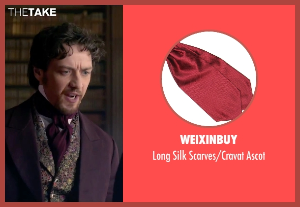 Weixinbuy red ascot from Victor Frankenstein seen with James McAvoy (Victor Von Frankenstein)