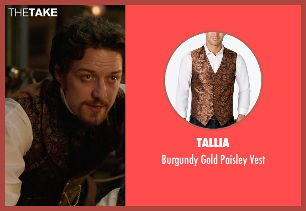Tallia vest from Victor Frankenstein seen with James McAvoy (Victor Von Frankenstein)