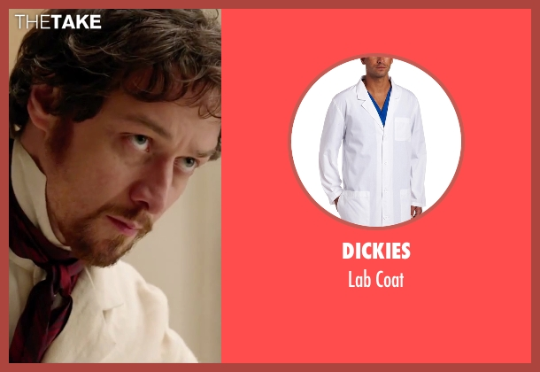 Dickies white coat from Victor Frankenstein seen with James McAvoy (Victor Von Frankenstein)