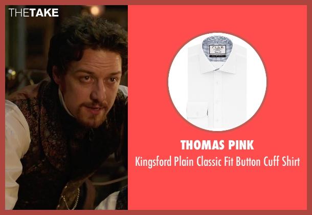 Thomas Pink white shirt from Victor Frankenstein seen with James McAvoy (Victor Von Frankenstein)