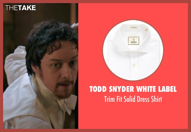 Todd Snyder White Label white shirt from Victor Frankenstein seen with James McAvoy (Victor Von Frankenstein)