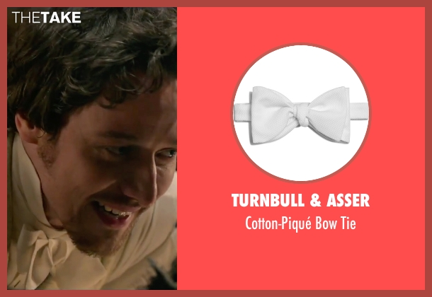 Turnbull & Asser white tie from Victor Frankenstein seen with James McAvoy (Victor Von Frankenstein)