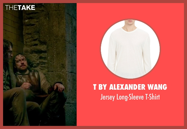 T by Alexander Wang white t-shirt from Victor Frankenstein seen with James McAvoy (Victor Von Frankenstein)