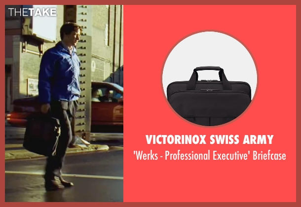 Victorinox Swiss Army black briefcase from Wanted seen with James McAvoy (Wesley Gibson)