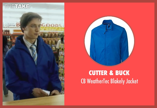 Cutter & Buck blue jacket from Wanted seen with James McAvoy (Wesley Gibson)