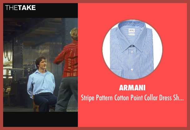 Armani blue shirt from Wanted seen with James McAvoy (Wesley Gibson)
