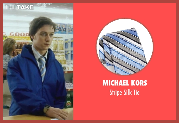 Michael Kors blue tie from Wanted seen with James McAvoy (Wesley Gibson)