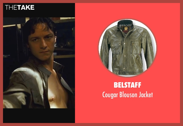 Belstaff gray jacket from Wanted seen with James McAvoy (Wesley Gibson)