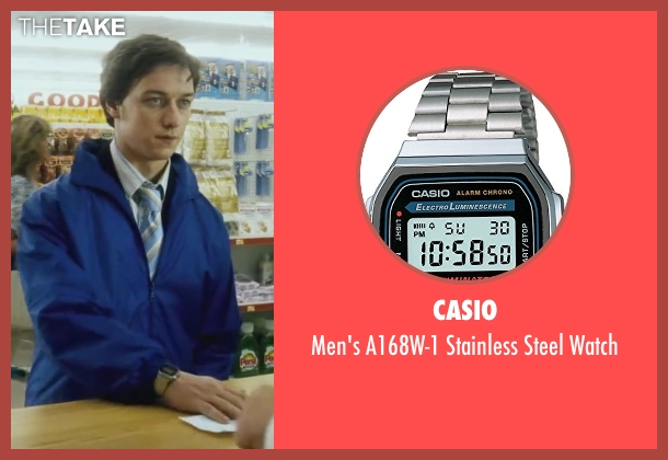 Casio silver watch from Wanted seen with James McAvoy (Wesley Gibson)