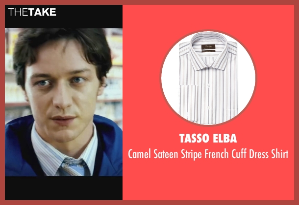 Tasso Elba white shirt from Wanted seen with James McAvoy (Wesley Gibson)