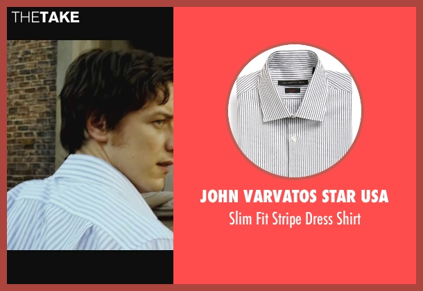John Varvatos Star USA white shirt from Wanted seen with James McAvoy (Wesley Gibson)
