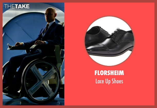 Florsheim black shoes from X-Men: Apocalypse seen with James McAvoy (Charles Xavier)