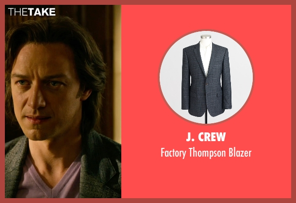 J. Crew gray blazer from X-Men: Apocalypse seen with James McAvoy (Charles Xavier)