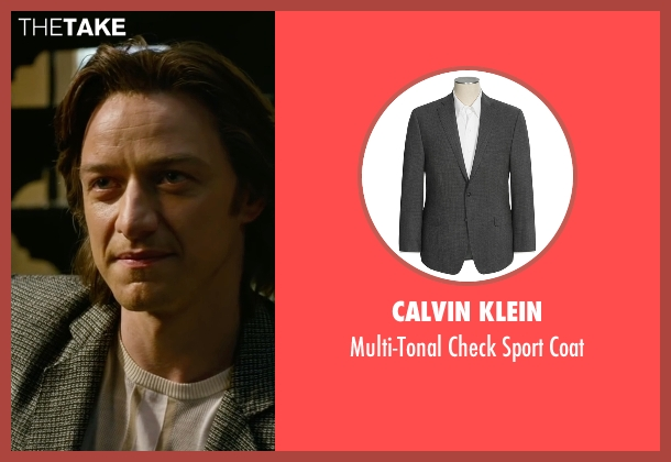 Calvin Klein gray coat from X-Men: Apocalypse seen with James McAvoy (Charles Xavier)