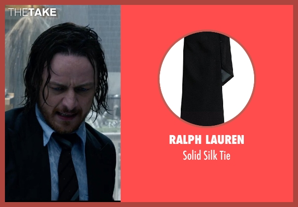Ralph Lauren black tie from X-Men: Days of Future Past seen with James McAvoy (Charles Xavier)