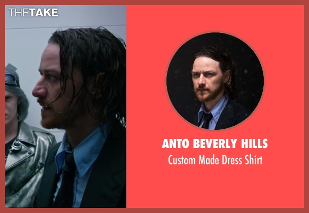 Anto Beverly Hills blue shirt from X-Men: Days of Future Past seen with James McAvoy (Charles Xavier)