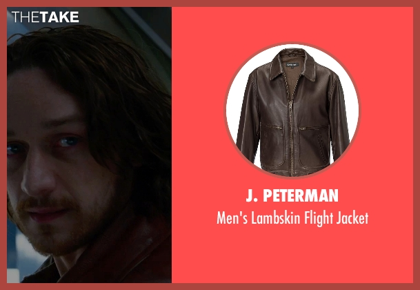 J. Peterman brown jacket from X-Men: Days of Future Past seen with James McAvoy (Charles Xavier)