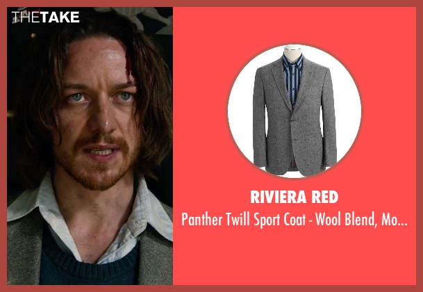 Riviera Red gray fit from X-Men: Days of Future Past seen with James McAvoy (Charles Xavier)