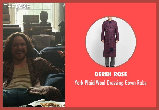 Derek Rose red robe from X-Men: Days of Future Past seen with James McAvoy (Charles Xavier)