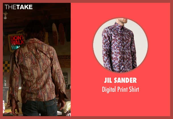 Jil Sander red shirt from X-Men: Days of Future Past seen with James McAvoy (Charles Xavier)