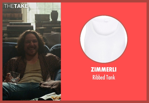 Zimmerli white tank from X-Men: Days of Future Past seen with James McAvoy (Charles Xavier)