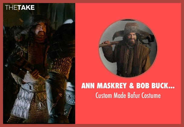 Ann Maskrey & Bob Buck (Costume Designer) costume from The Hobbit: The Battle of The Five Armies seen with James Nesbitt (Bofur)