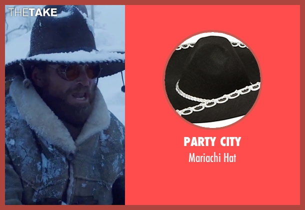 Party City black hat from The Hateful Eight seen with James Parks (O.B Jackson)
