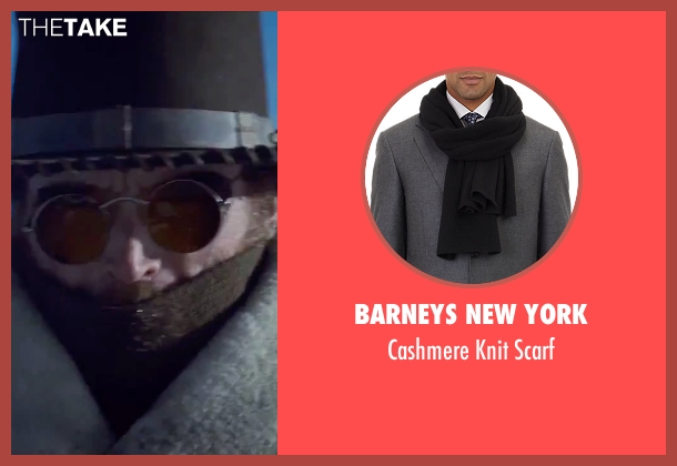 Barneys New York black scarf from The Hateful Eight seen with James Parks (O.B Jackson)