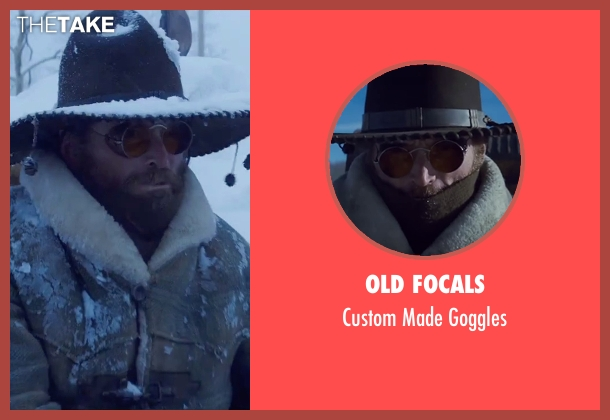 Old Focals brown goggles from The Hateful Eight seen with James Parks (O.B Jackson)